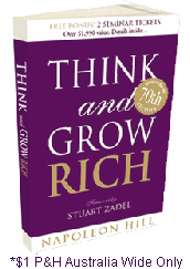 Olle Persson, Stuart Zadel and book give away, Think and grow rich.